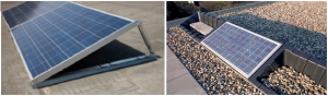 Plaatsing zonnepanelen plat dak